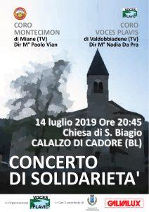 CONCERTO DI SOLIDARIETA' a Calalzo di Cadore (Chiesa di S. Biagio) @ Chiesa di S. Biagio | Treviso | Veneto | Italia